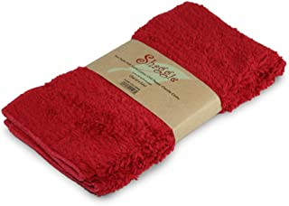 Janey Lynn's Designs, LLC Shaggie Chenille Dish/Washcloth, 10-Inch-by-10-Inch, Chilli Pepper