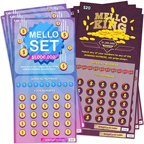 8 Fake Lottery Tickets and Scratch Off Cards (2 Designs) – Fake Lotto Tickets Look Real & Wins $1...