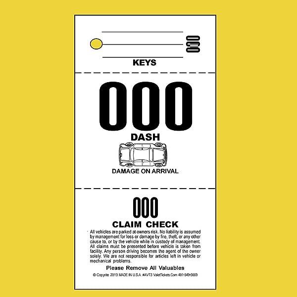 2 000 张罚单 3 部分代客停车罚单代客标签 110lb 卡库存正面白色汽车图
