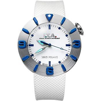 I.T.A. アイティーエー 腕時計 ディスコボランテ ドーム型ガラス メンズ レディース ホワイト/シルバー ラバー DISCO VOLANTE Ref.31.00.01【国内正規品】