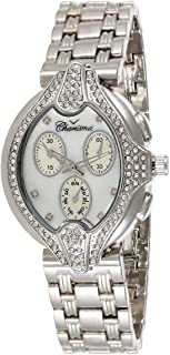 Charisma Women's White Dial Silver Band Watch - 6520