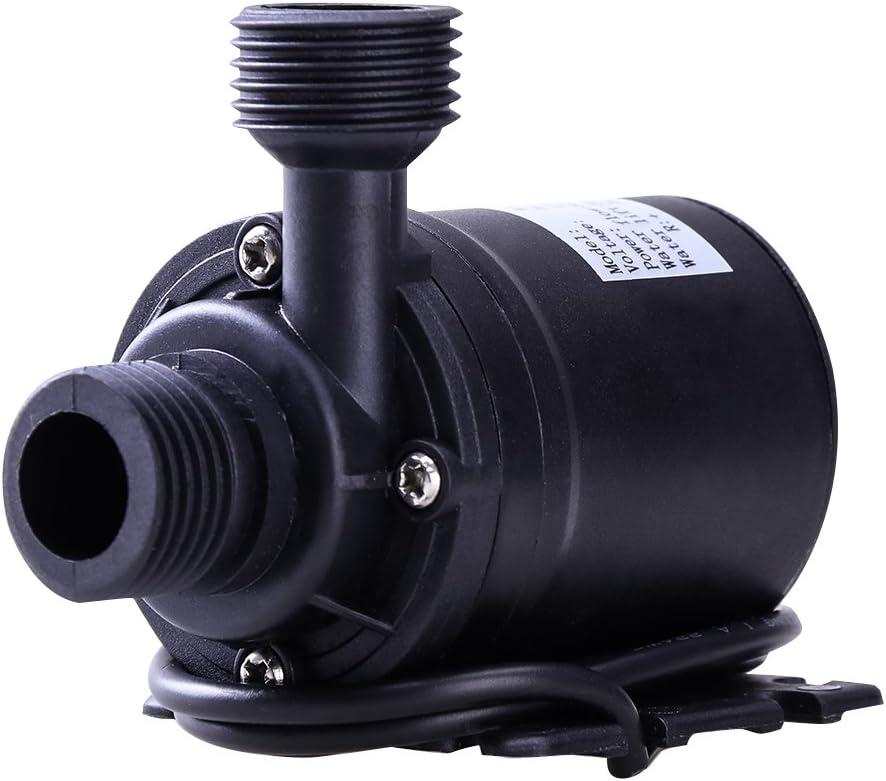 UEETEK DC 12V Bomba de Agua Sumergible (sin Escoba 800L/H 5M para Sistema de circulación de Agua de Sistema de circulación Solar de la Piscina Fuente