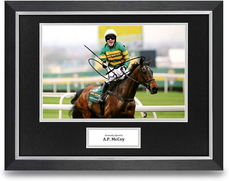 A.P. McCoy Signed 16x12 Framed Photo Display Don't Push It Autograph Memorabilia