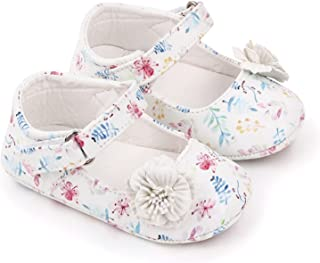 Baby Girl Flower Princess Shoes Toddler Soft Sole Anti-Slip Walking Print Pattern Casual Shoes (Baby Age : 13-18 Months, C...