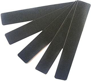 10Pcs Professional Washable Thick Nail Files Emery Board 60/60 Grit Black Nail Art Care Sanding Buffer Buffing Manicure Pedicure Tool