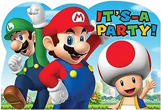 Amazon Fr Carte Invitation Anniversaire Mario