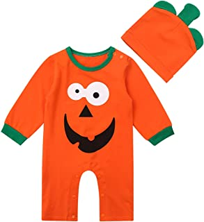 wanshop   /® Neonato Manica Corta Cartoon Stampe Pagliaccetto Body Tutine Jumpsuit Idea Regalo Figlio Cappello Bambino Education Costume Set da 0 A 24 Mesi