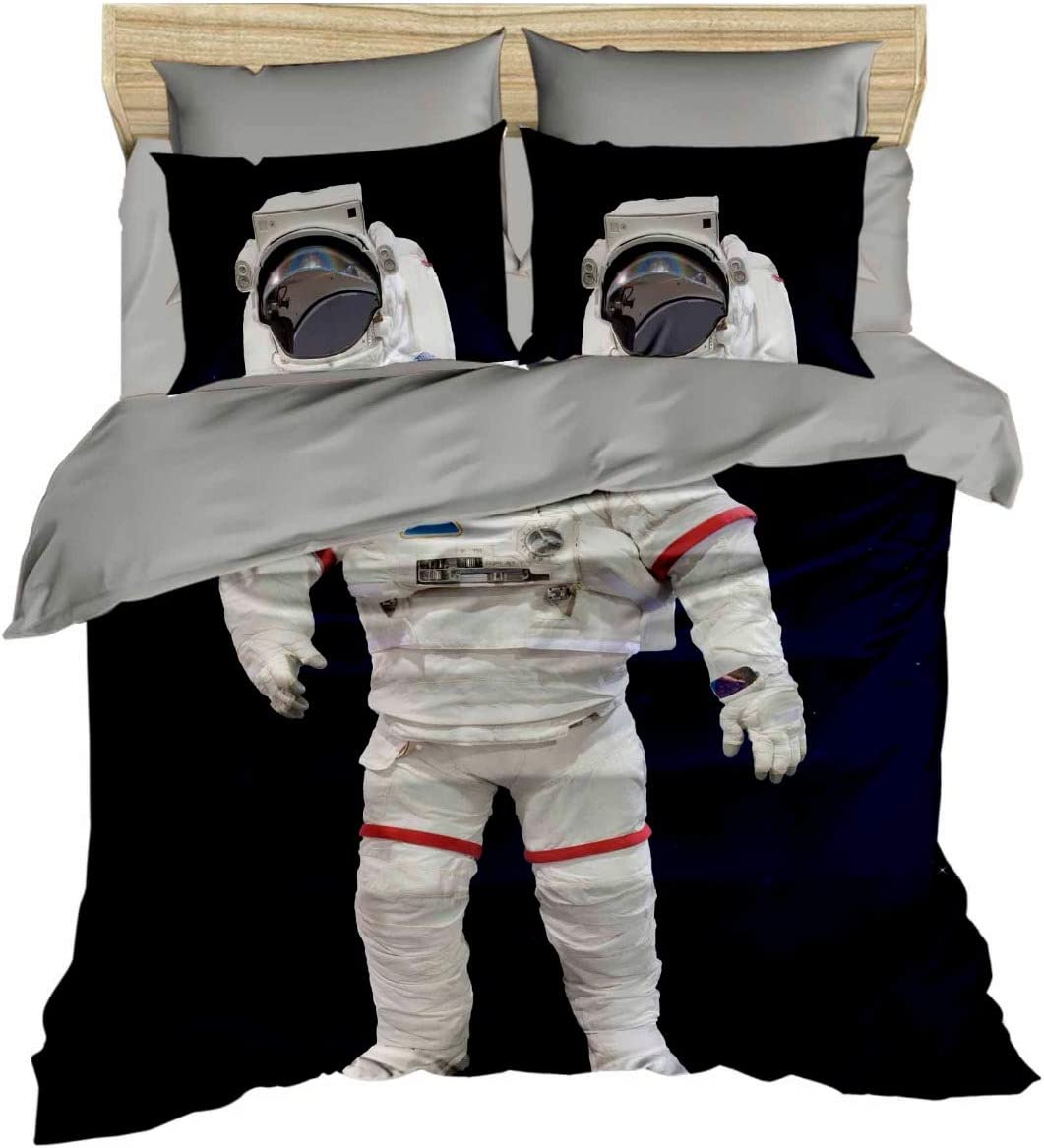 Details about  /Nebula Quilted Bedspread /& Pillow Shams Set Cartoon Astronaut Space Print