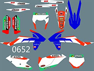 DST0652 3M Customized Motorcross Graphics Motorcycle Decals Stickers Kit Fit for KTM EXC XCF XCW 2017-2019 & KTM SX SXF XC XCF 2016-2018