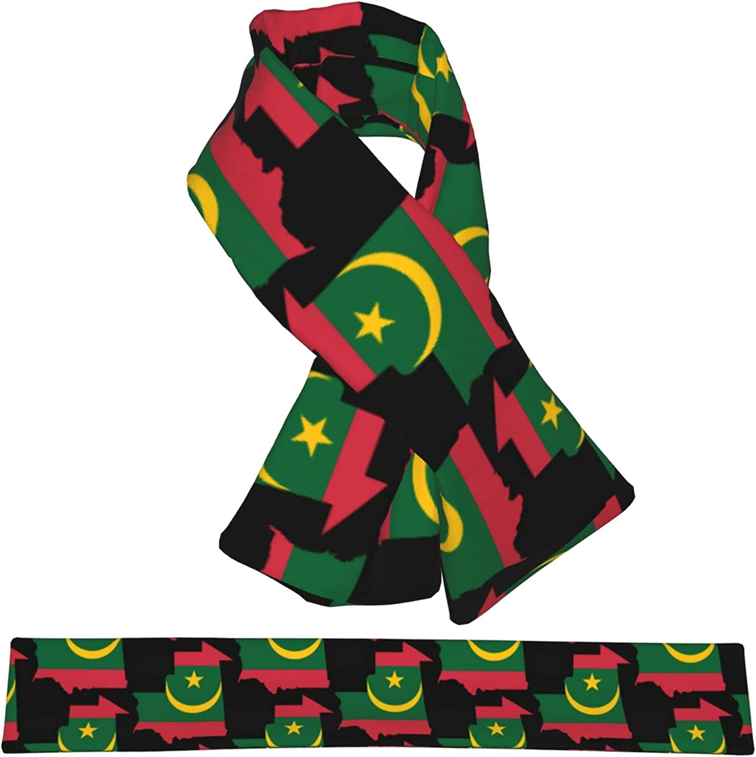 Flag Map Be super welcome Of Mauritania Ranking integrated 1st place Flannel Cross Collar Shawl Scarf Wrap Nec