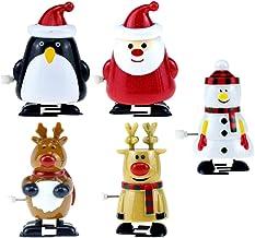 TOYMYTOY 5Pcs Christmas Wind Up Toys Party Favors Assortment Santa Reindeer Snowman Penguin Clockwork Toys for Christmas P...