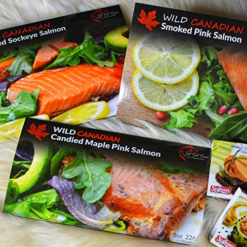 Smoked Salmon Christmas Food Gift Pack Featuring Wild Canadian Salmon and Seafood Pate