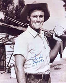 Chuck Connors (D.) Autographed/Original Signed 8x10 Sepia Photo Showing Him As The RIFLEMAN - Connors Also Played for the Brooklyn Dodgers in 1949 and the Chicago Cubs in 1951 (Pose 2) COA