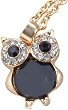CHARMING Owl 'Opal Rhinestones' Pendant Necklace in Beautiful GIFT BOX | Gold-Tone with Full Chain