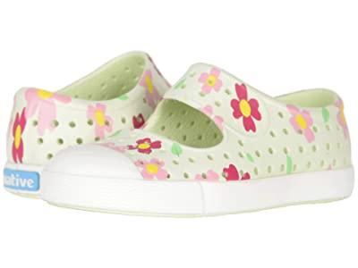 Native Kids Shoes Juniper Print (Toddler/Little Kid) (Cucumber Green/Shell White/Daisy) Girls Shoes