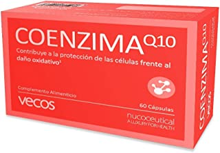 Antioxidante endógeno Vecos con coenzima Q10. vitamina C y vitamina E – Potencia el rendimiento físico – 60 cápsulas