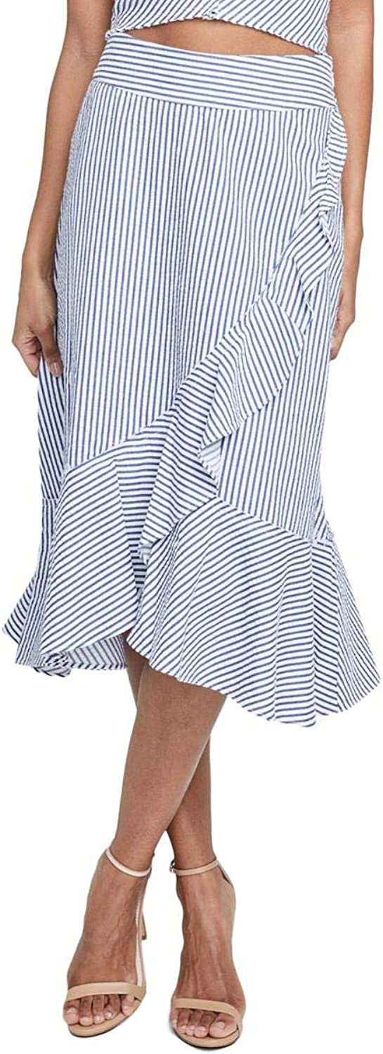 Rachel Rachel Roy Womens Esta Ruffled Striped ALine Skirt
