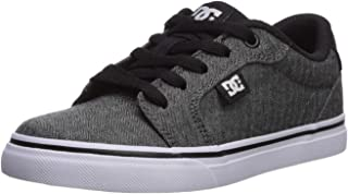Kids Dc Boys Anvil Leather Low Top Lace Up Fashion Sneaker