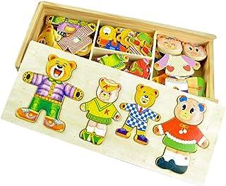 FLAMEER Houten berenpuzzels voor kinderen.