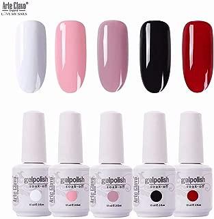 Arte Clavo 15ml Varnish Soak Off UV Led Nail Gel Polish Nail Art Salon Set 521 of 6 Colors
