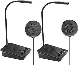 Window Speaker System 2 Way Intercom Communication Microphone Intercom Anti-Interference for Bank Restaurant Business Offi...