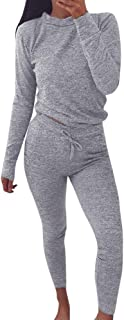 Sport Blouse Tops Pants Sets Womens 2 PCS Tracksuits Active Ladies Joggers Set