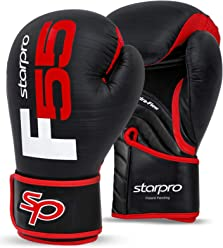 8oz 10oz 12oz 14oz 16oz Muay Thai Kickboxing Punching Fighting MMA Punch Bag Mitts Focus Pads Fitness Exercise Synthetic Leather Black Starpro Boxing Gloves Training Sparring