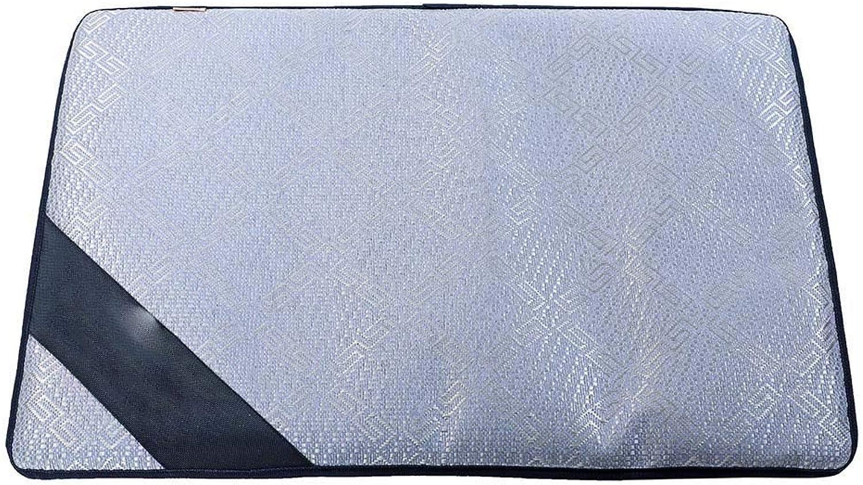 Cookisn Breathable Pet Dog Cat Summer Sleeping Mat Self Cooling Mattress Straw Mat Cold Pad Ice Cushion bluee M