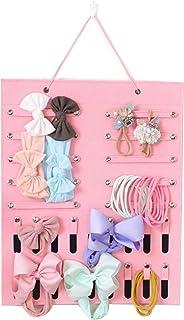 HONMY Hair Bow Headband Storage Holder Bow Organizer for Girls Hair Bows Felt Wall Hanging Storage Organizer for Headbands...