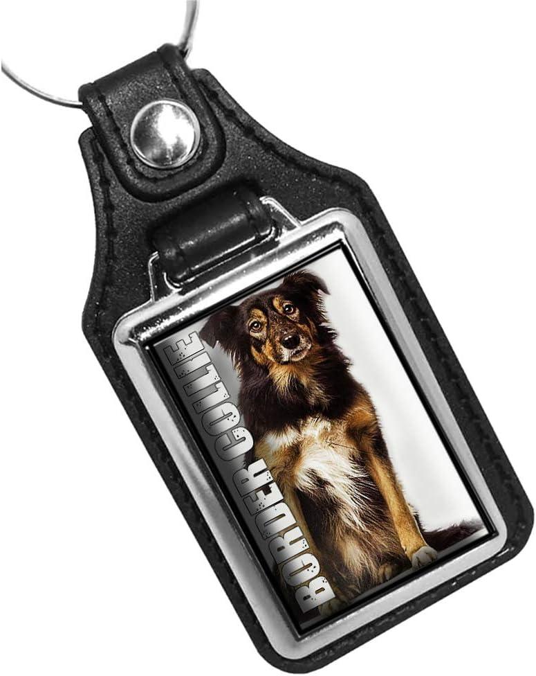 Border Collie Dog Design Keychain Key Holder Key Ring for Men Heavy Duty Car Keyring for Men and Women