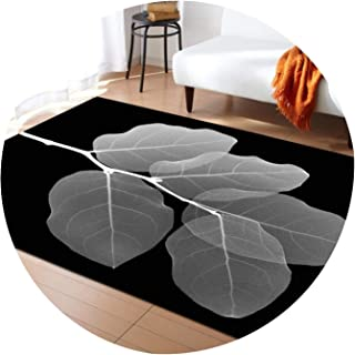 Lady Night Large 3D Carpets Green Leaf Vein Rug Bedroom Kids Room Play Mat Memory Foam Area Rugs Carpet for Living Room Home Decorative,No-1,203X147Cm