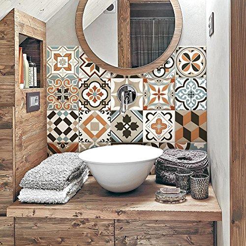 Adhesivos para azulejos de baño y cocina, 10 unidades, 20 x 20 cm, fabricados en Italia, 10 unidades