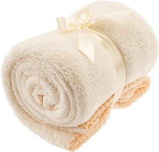 Bieco Baby Kuscheldecke Fleece Beige | Flauschige Decke | Kuscheldecke Baby | Kinder Kuscheldecke | Dünne Decke Flauschig | Baby Blanket | Kuscheldecke Kinder | Geschenk zur Geburt Junge und Mädchen