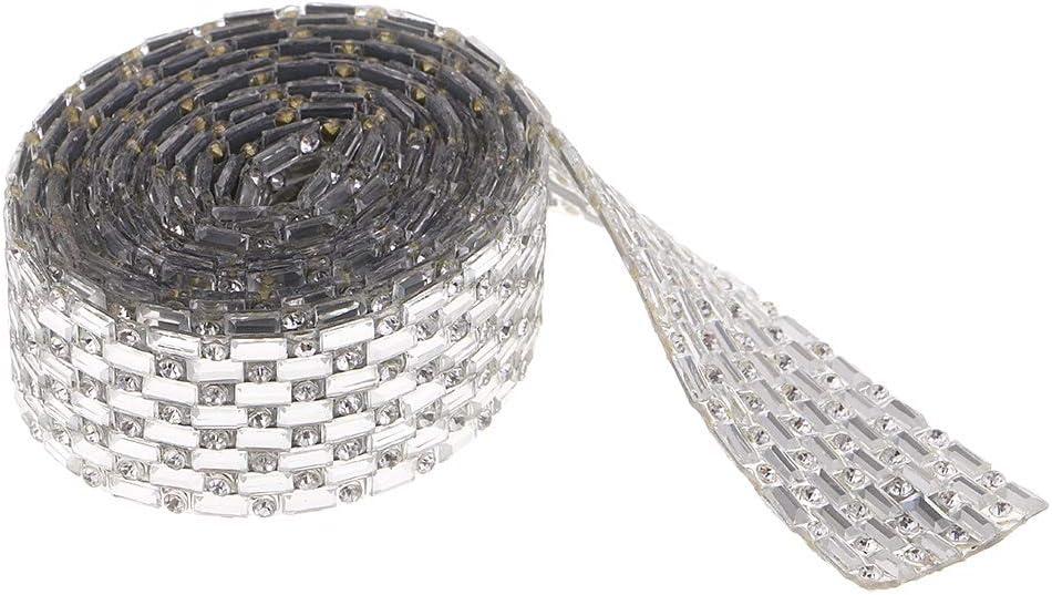 We OFFer at cheap prices Baosity 1 Yard Silver Rhinestone Ranking TOP20 DIY Decoratio Trim Cake Crystal