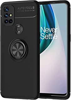 FanTing Case for OnePlus Nord N10 5G, 360°adjustable rotating ring bracket,Compatible with Magnetic Car Mount ,Earthquake ...
