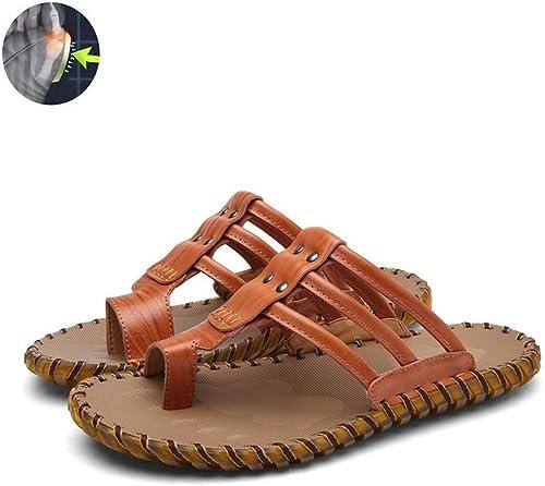 GRASSAIR Sandales pour Hommes, Hommes, Gros Orteil Chaussures de Correction Semelles antidérapantes Chaussures Hommes été Plage Voyage Pantoufles oignons Chaussures correctrices,marron,42  80% de réduction