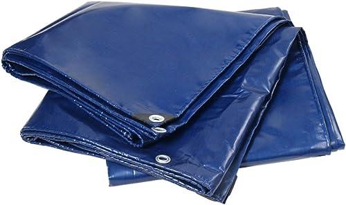 CLDBHBRK Bache Bleu Imperméable Linoléum Tissu de Pluie Un Camion, Locomotive imperméable Prougeection Solaire Toile de Hangar de Plein air Pare-Soleil Polyester PVC,200  200cm