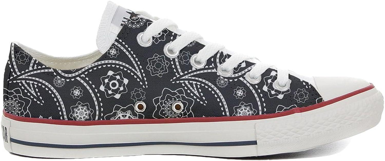 Converse All Star Cutomized Slim personalisierte Schuhe (Handwerk Produkt) schwarz Paisley B06X6K76G1  Sorgfältig ausgewählte Materialien