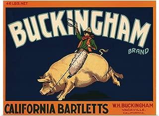 GREATBIGCANVAS Poster Print Bucking Ham by 16