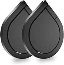 Cell Phone Ring Stand Holder, Asstar 360 Rotation Water Drop Shape Magnetic Phone Grip Kickstand, Universal Finger Ring Stand for iPhone, Smartphones, Samsung, Tablet (Black)