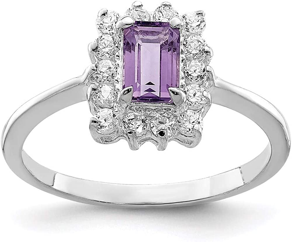 Ryan Jonathan Fine Jewelry Sterling Max 62% OFF Dedication Amethyst and Cubic Silver Zi
