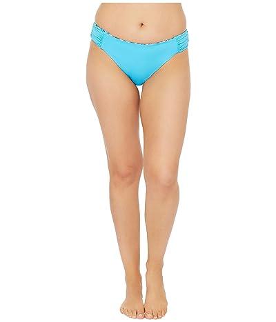 La Blanca Sketched Leaves Reversible Side Shirred Hipster Bikini Bottoms (Poolside) Women