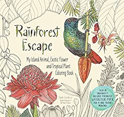 Rainforest Escape Watercolor Coloring Book