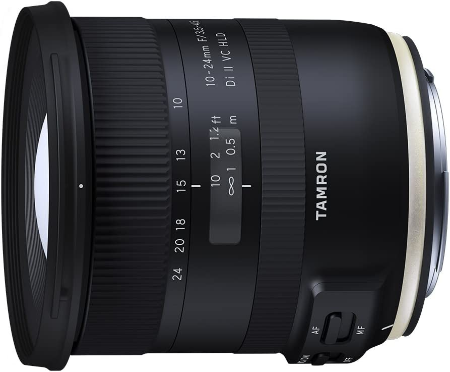 Tamron 10-24mm F/3.5-4.5 Di-II VC HLD Wide Angle Zoom Lens for Canon APS-C Digital SLR Cameras (6 Year Limited USA Warranty)