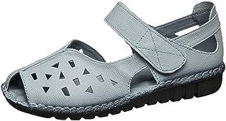 Yowablo Sandales Femmes Fond Doux National Fish Mouth Dames Été Creux Chaussures Plates