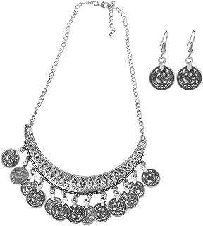 4f030fbc16e Xuniu Sistema de la joyería de Las Mujeres de la Moda, Pendientes étnicos  del Collar