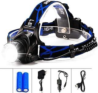 Super Bright Waterproof Head Torch//Headlight LED Rechargeable Headlamp Work Kits
