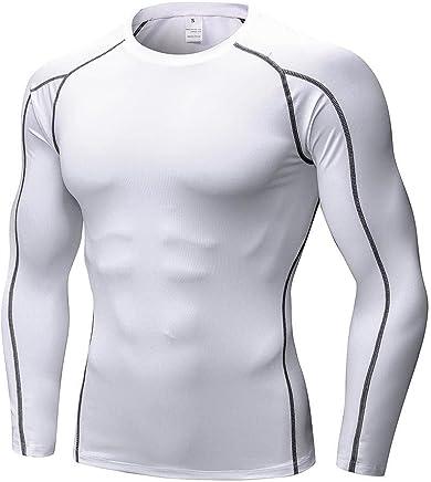 EFINNY Herren Kompressionsshirt Funktionsshirt Schnell Trocknend Langarm Sportbekleidung f/ür Gymnastik Laufen Radfahren /Übung
