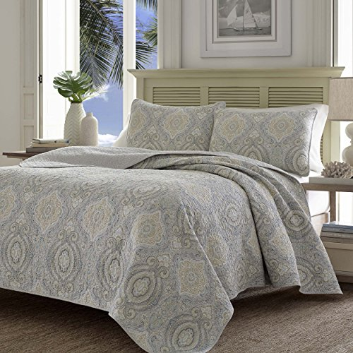Tommy Bahama Turtle Cove Reversible Quilt Set, Full/Queen, Gray