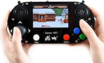 Game HAT for Raspberry Pi A+/B+/2B/3B/3B+/Zero/Zero W Portable Game Console Gamepad Kit with 3.5inch IPS Screen on Board, Smoothly Display